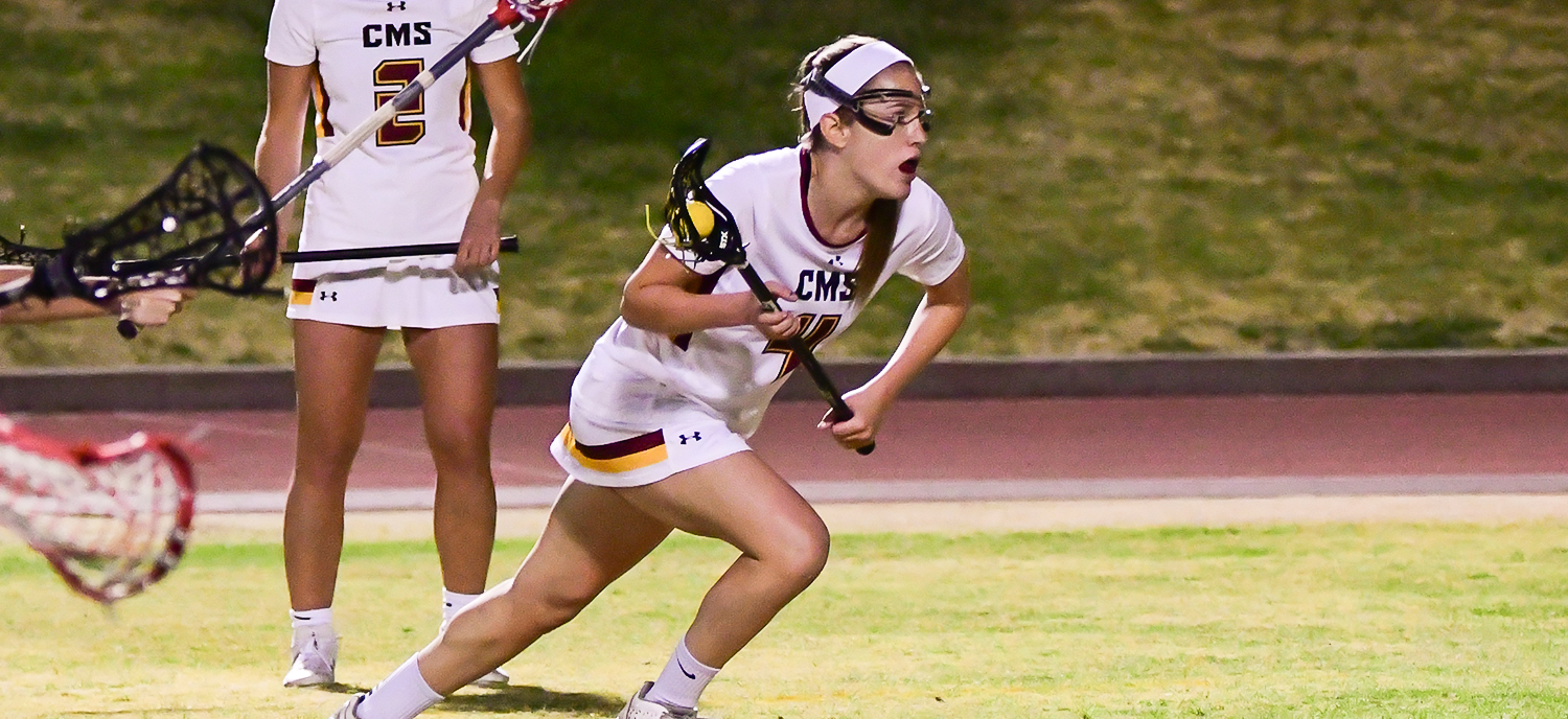 Corie Hack scored seven goals in the Athenas' home opening victory on Wednesday. (photo credit: Mitch Allan)