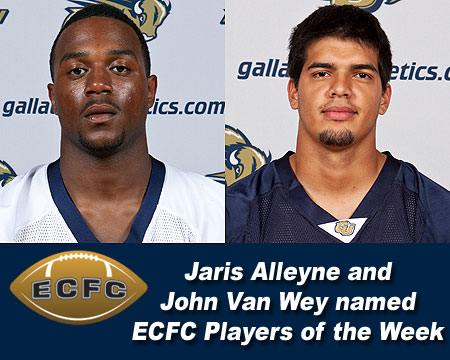 Gallaudet football honored with two ECFC Player of the Week awards