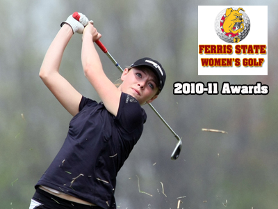 Freshman Jacqueline DeBoer was selected as the 2010-11 Bulldog women's golf team's Most Valuable Player.  (Photo by The Grand Rapids Press)