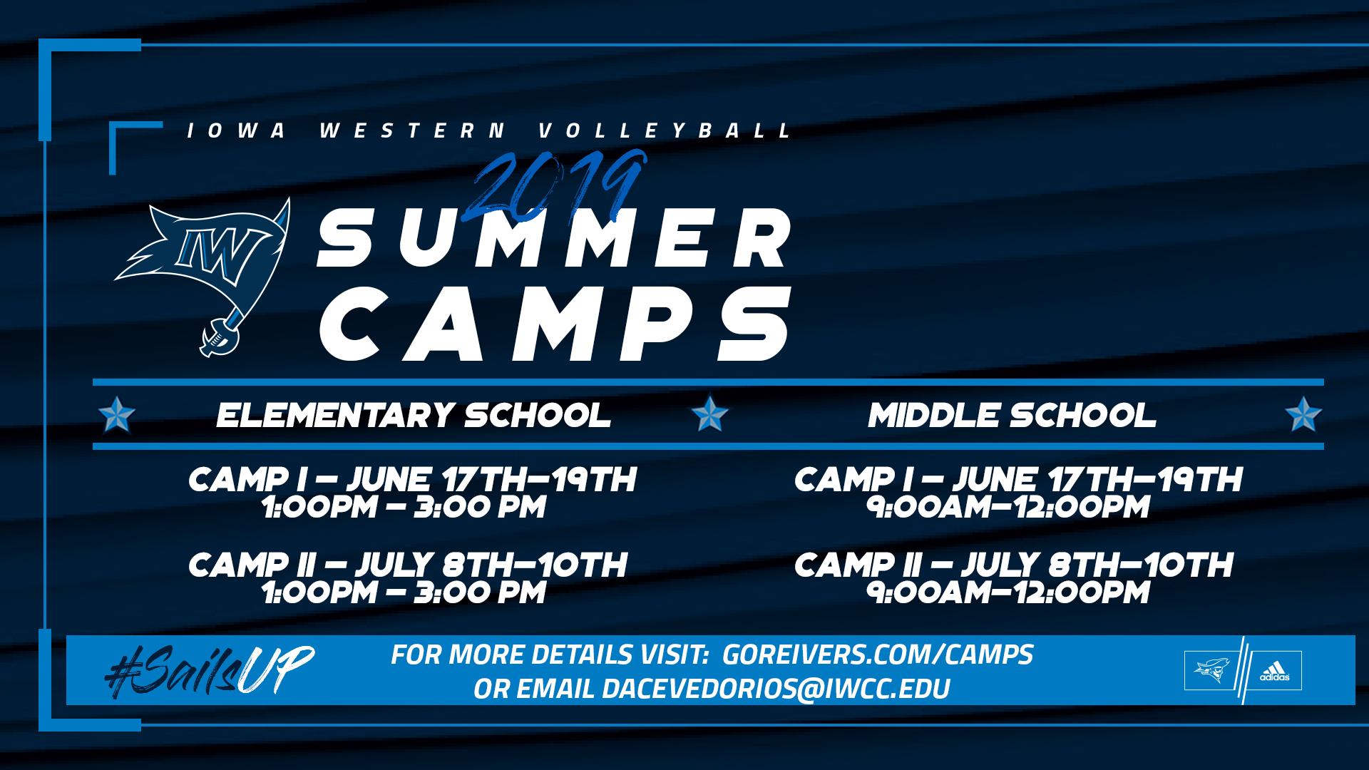 Volleyball Camps start June 17th