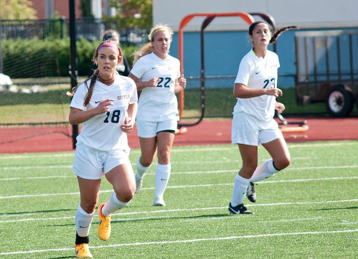 Simmons Tops Women's Soccer, 2-0, in GNAC Saturday Action