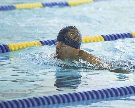 GU men's swimming swept in NEAC opener at SUNY Cobleskill