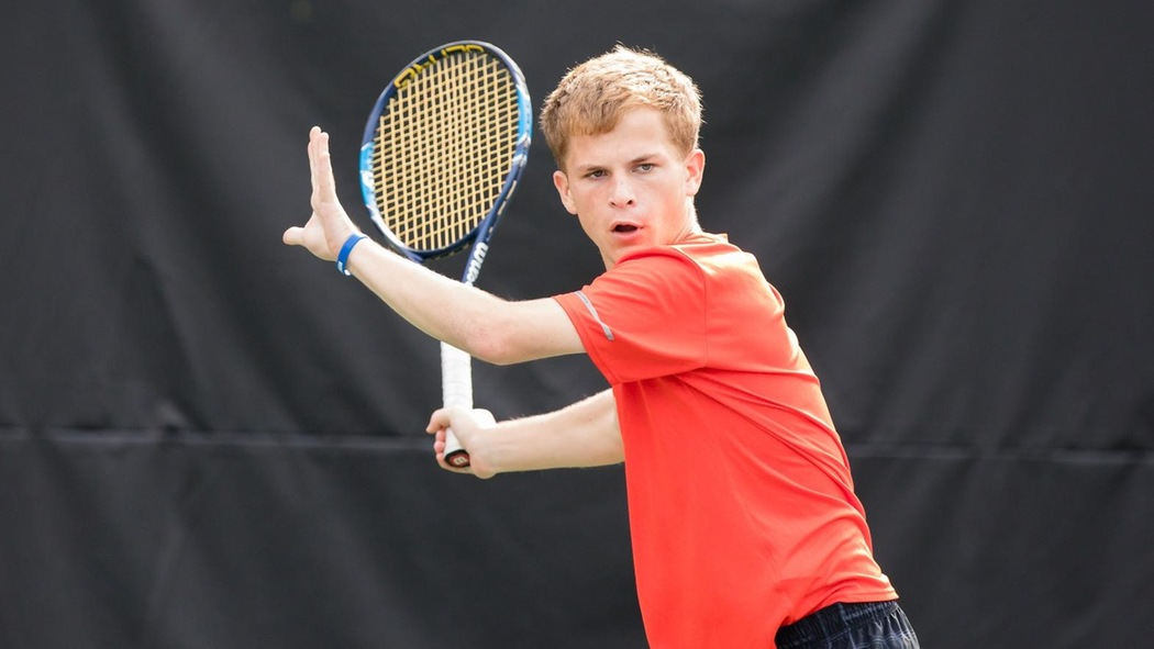 Casey Johnson playing tennis.