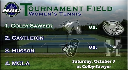 Tennis seeded fourth, set to face top seed Colby Sawyer on Saturday