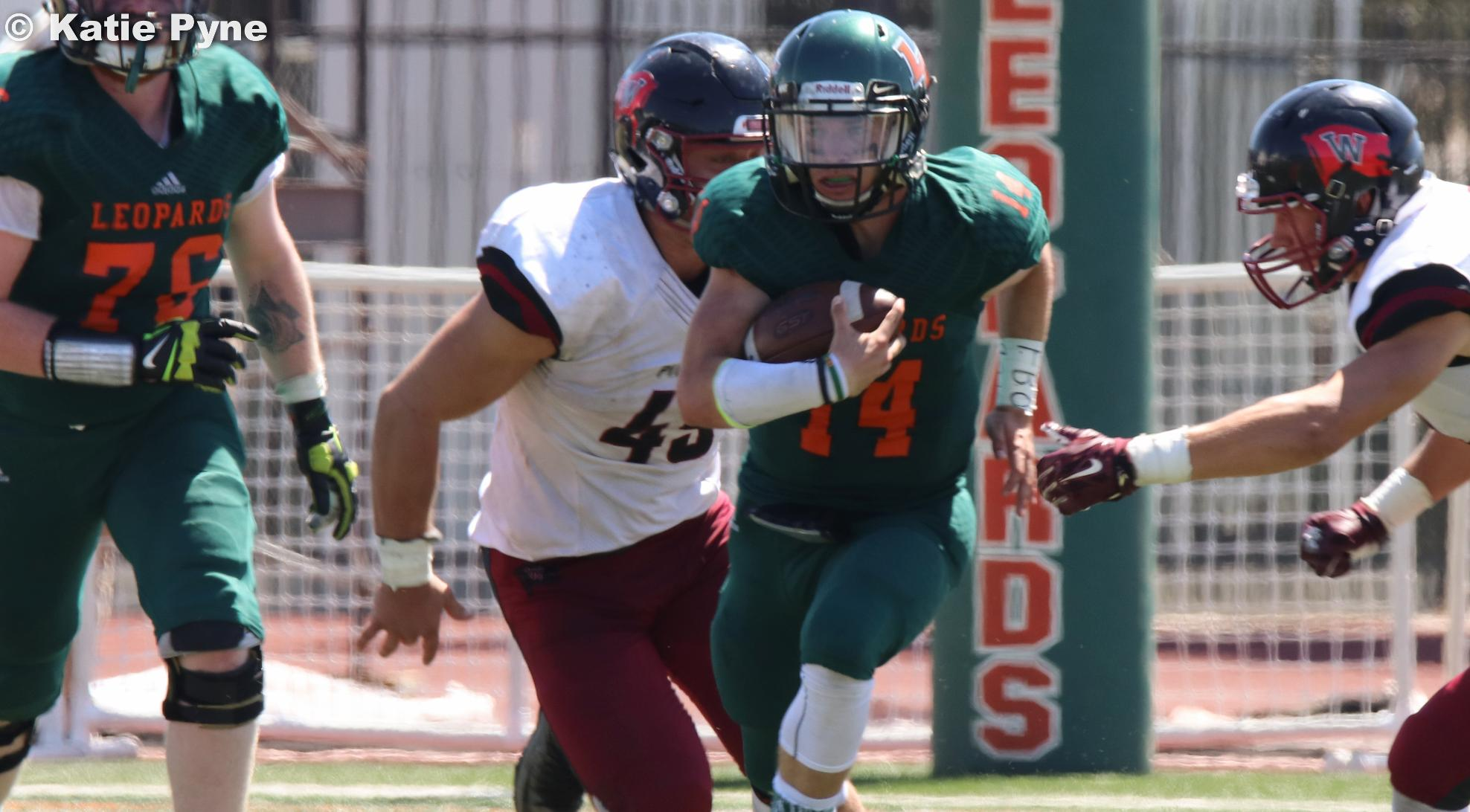 Football drops to Whitworth in shootout, 48-42