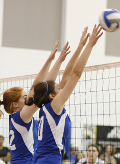 Blue Volleyball Splits Two at Brandeis Invitational