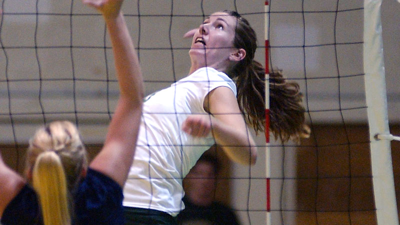 Former Hornet Atlee Hubbard, who was just named head coach at Menlo College, finished her career with 1,273 kills and 1,223 digs
