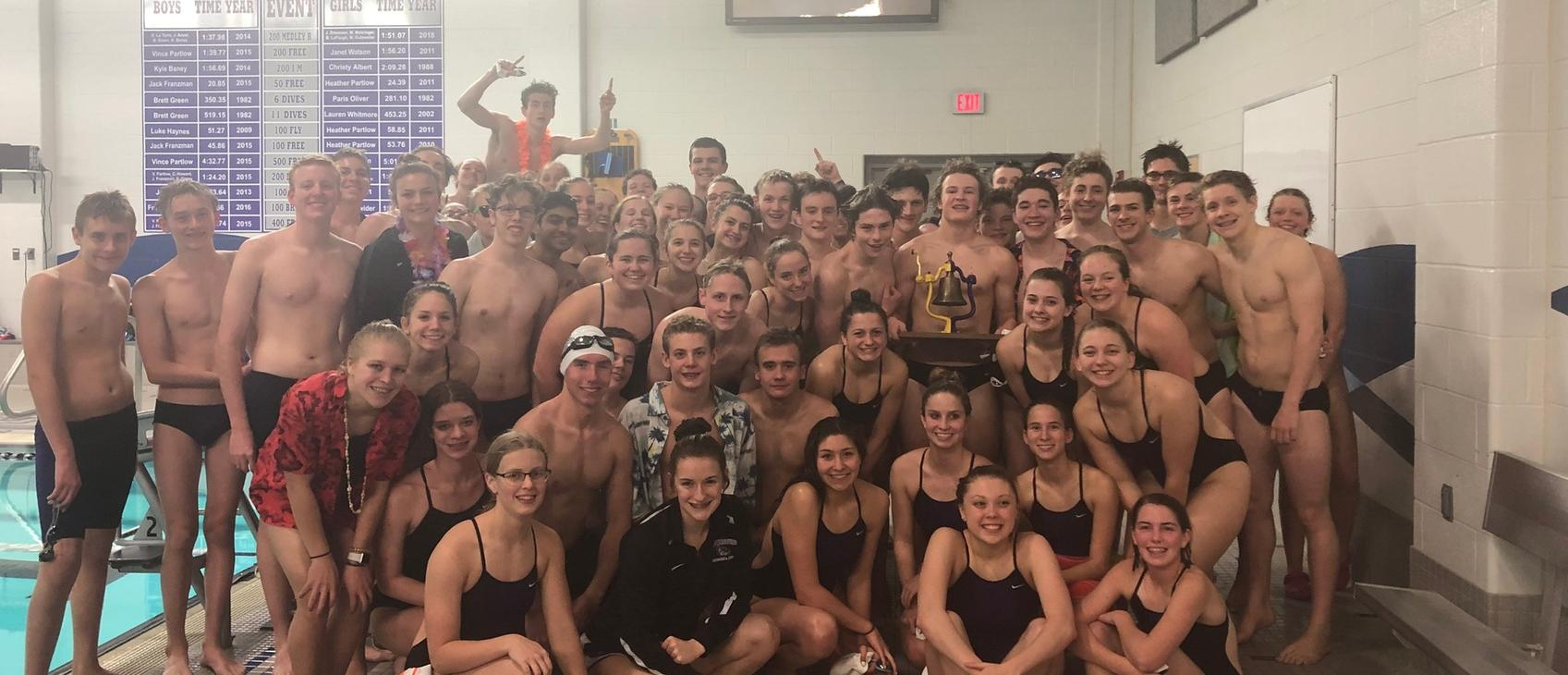 Boys' Swim/Dive Wins B&O Rotary Bell