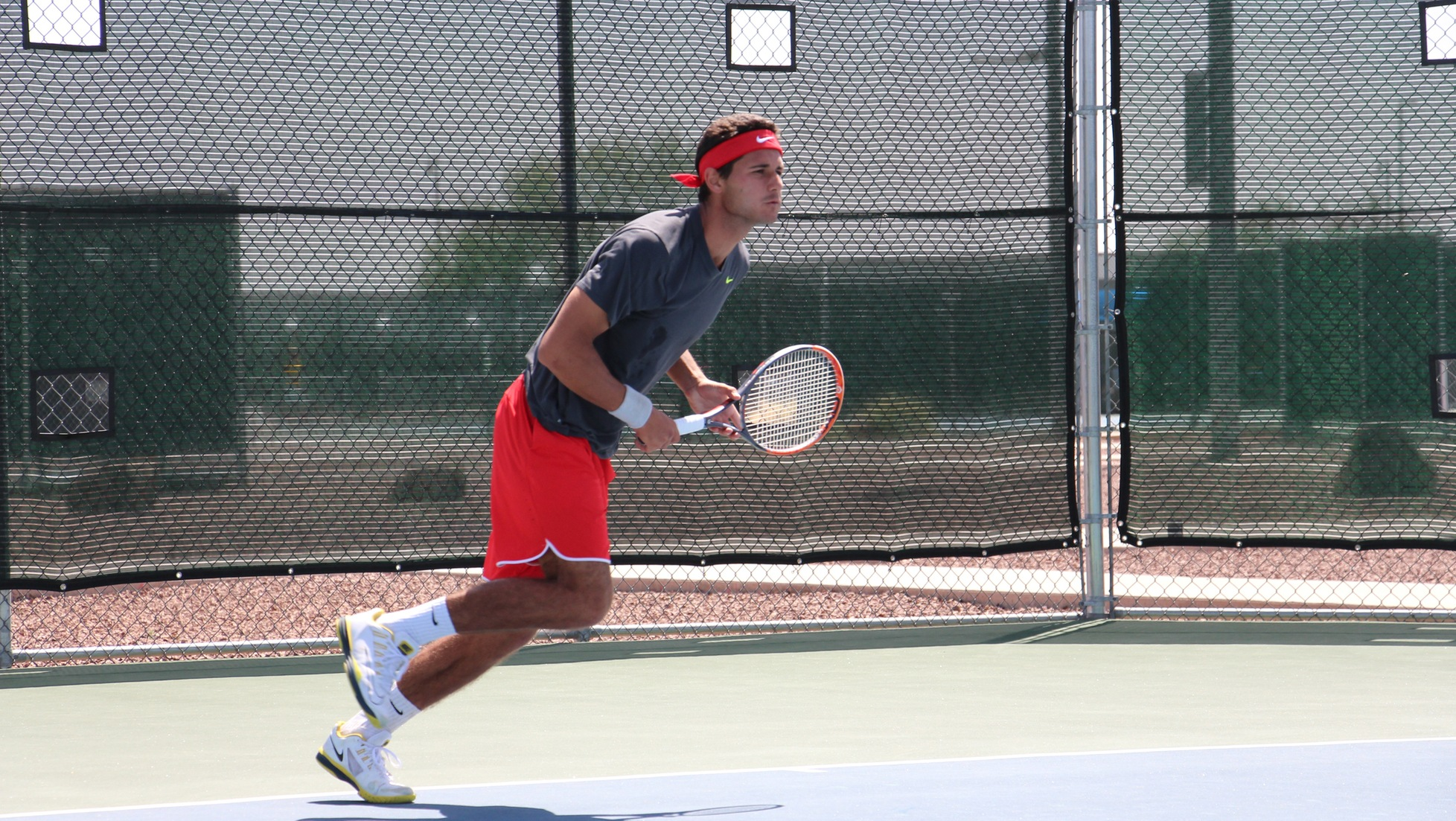 Ibrahim Karmadzha readies for a return at the 2016 PacWest Championships.