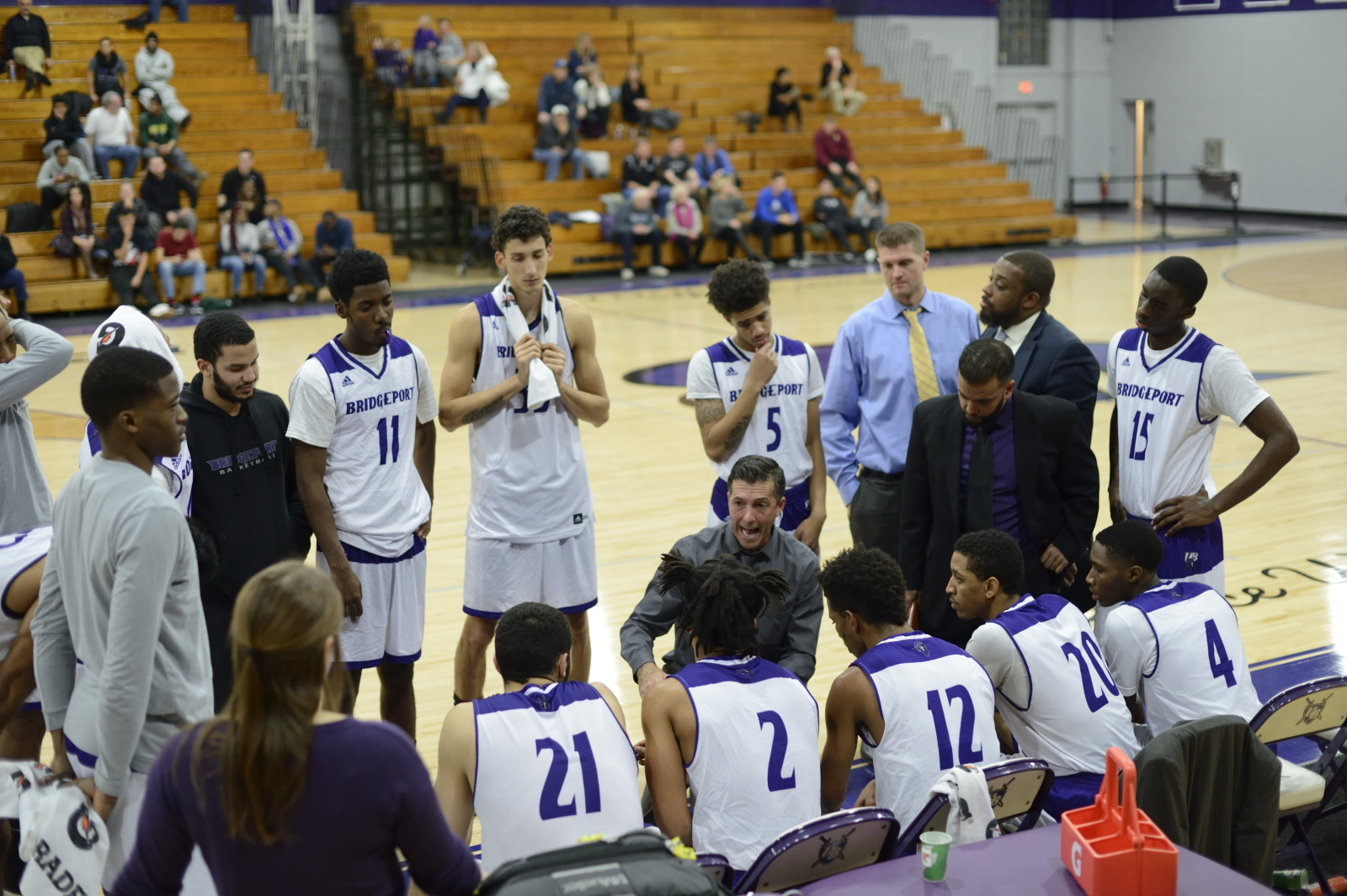 Purple Knights Strengthen Grip On Top Spot In ECC Men's Basketball Standings With A 74-65 Win At St. Thomas Aquinas
