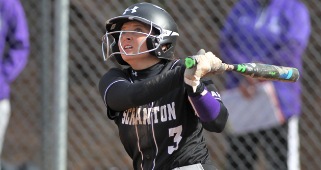 Junior Casey DeSarno hit a two-run, walk-off double in the second game of Wednesday's doubleheader with Wilkes to give Scranton a sweep of the non-conference twin bill. © Photo by Timothy R. Dougherty / doubleeaglephotography.com
