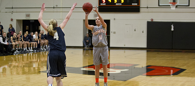 Women's Basketball Battles George Fox; Anderson Knocks Down 23