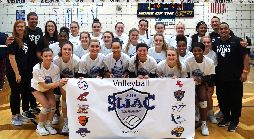 Women's volleyball captures fourth straight SLIAC tournament championship; All-conference awarded presented