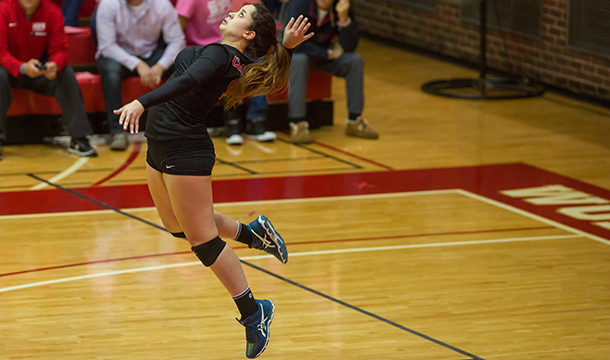 Volleyball Rolls Past Pride, Back In NEWMAC Title Match