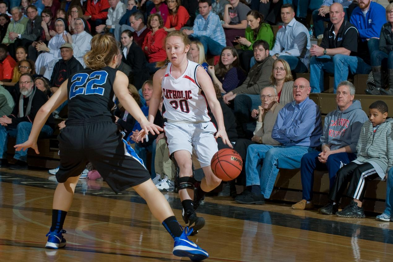 Catholic Women's Basketball Records First Win of the Season