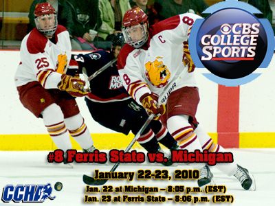 Ferris State Hockey To Make CBS College Sports TV Appearances