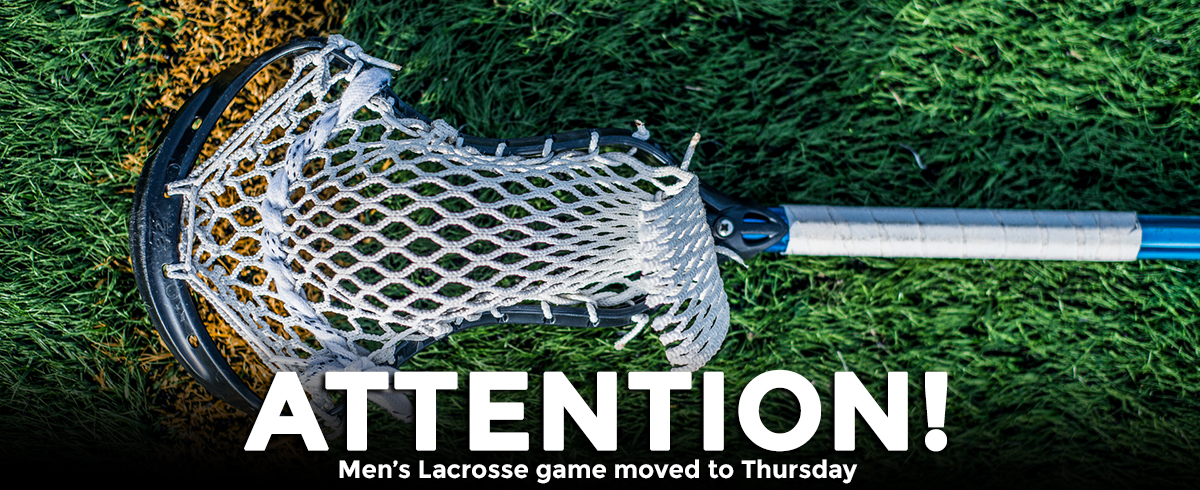 GNAC Men's Lacrosse Matchup Moved to Thursday