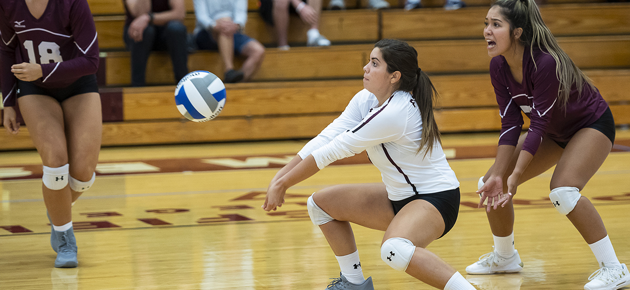 Women's Volleyball Splits a Pair of Five-Set Matches With NYU and Stockton