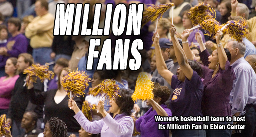 Women's basketball team to welcome Millionth Fan in Eblen Center