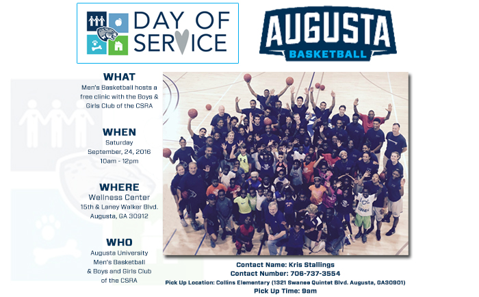 Men's Basketball To Participate in Day of Service Sept. 24
