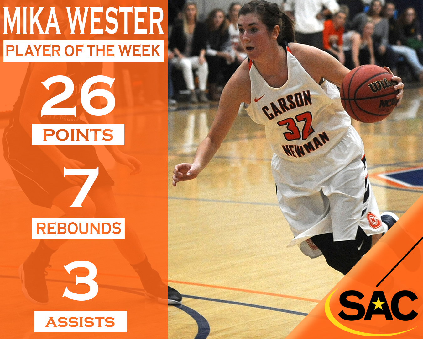 Wester wins SAC Player of the Week