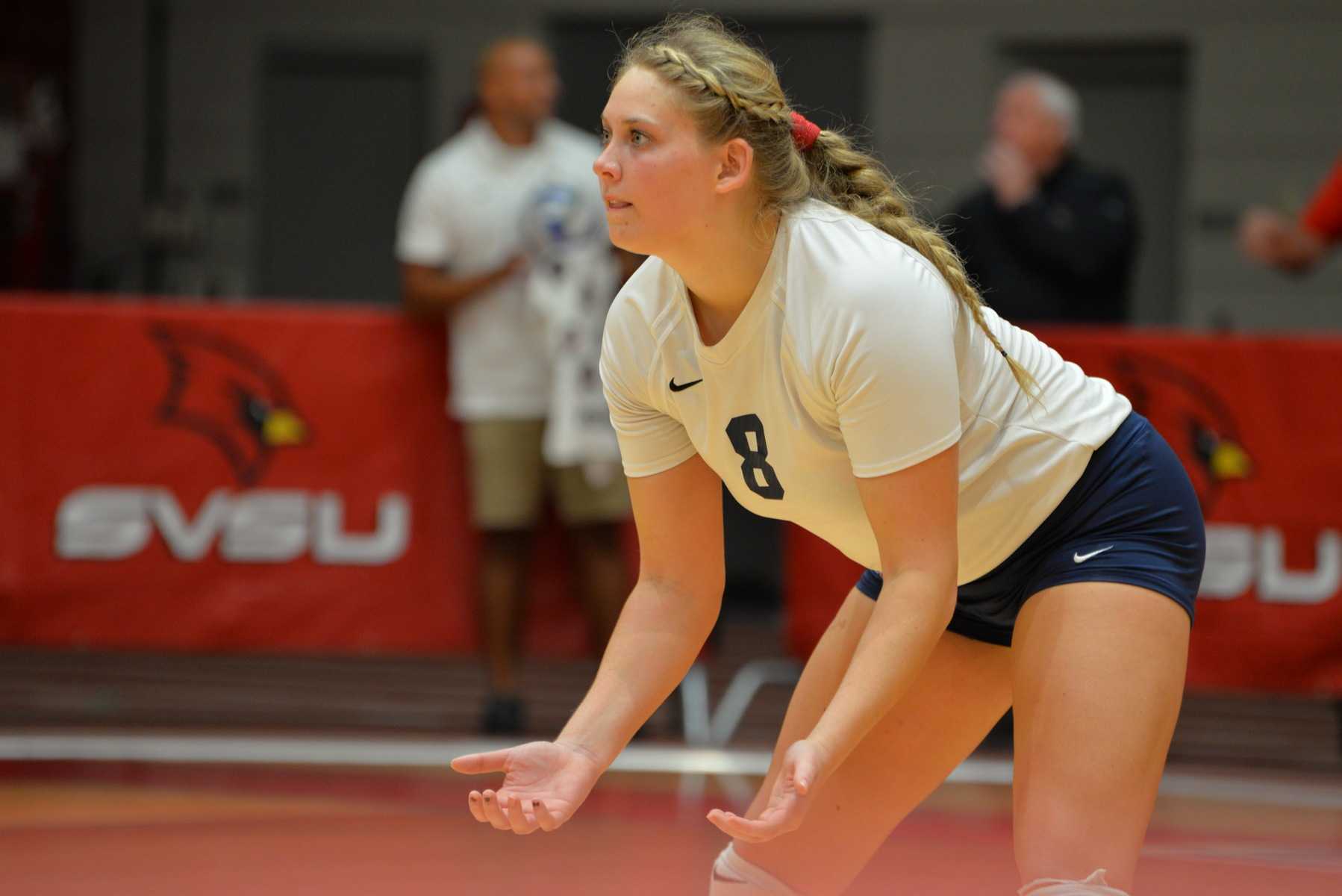 Volleyball Tops NMU in Five-set Comeback