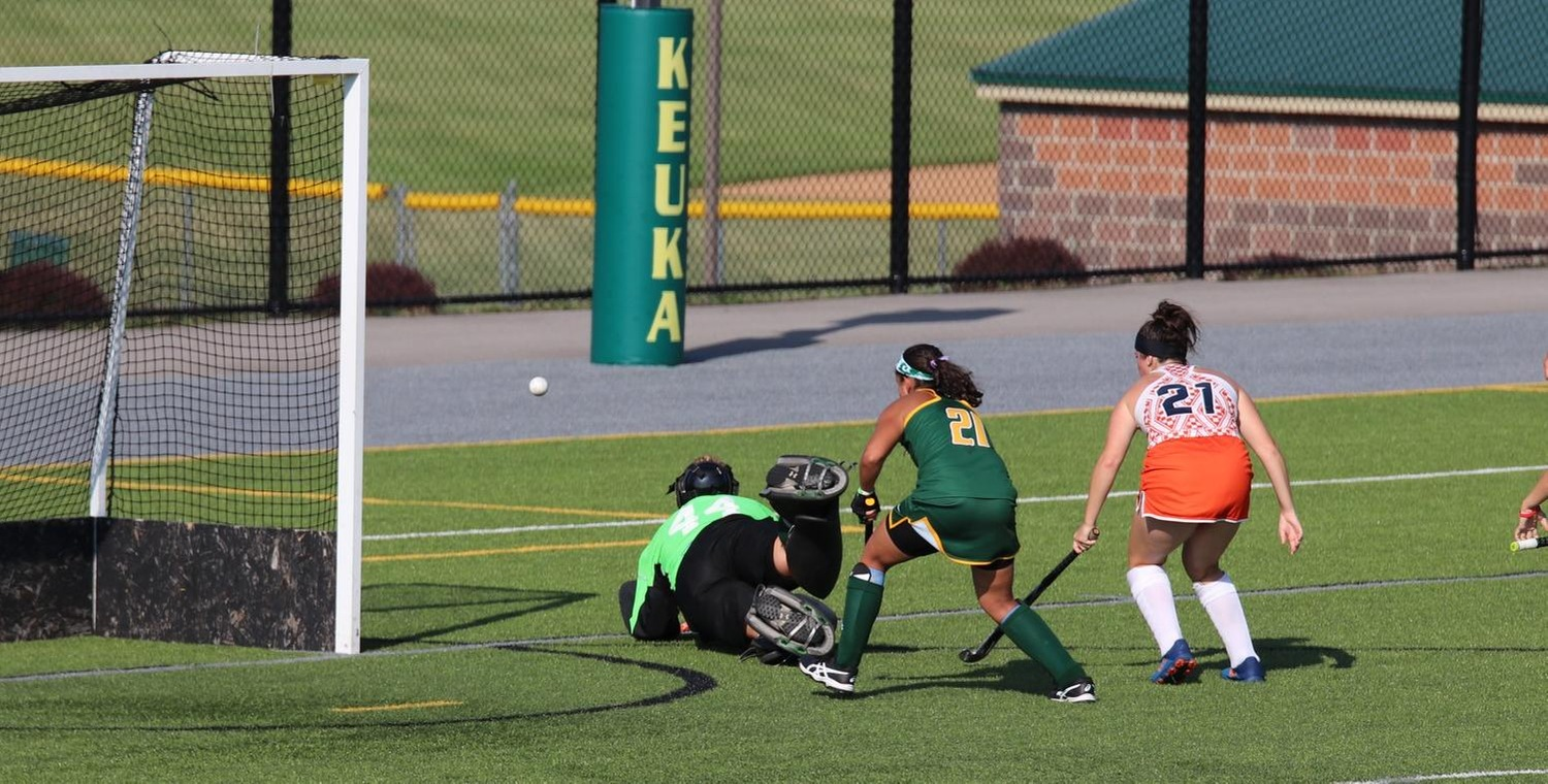 Kassidy Valentine (44) made 10 saves over three quarters on Wednesday -- Photo by Brooke Overton (9/11/19)