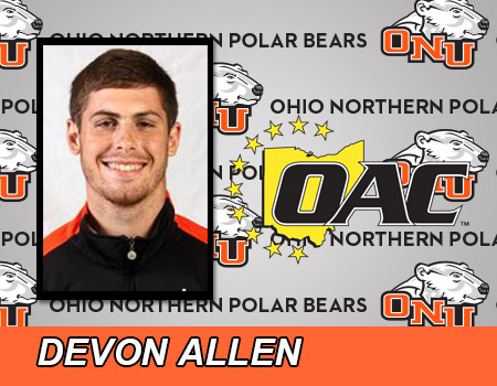 Junior Devon Allen named Ohio Athletic Conference Men's Basketball Player of the Week