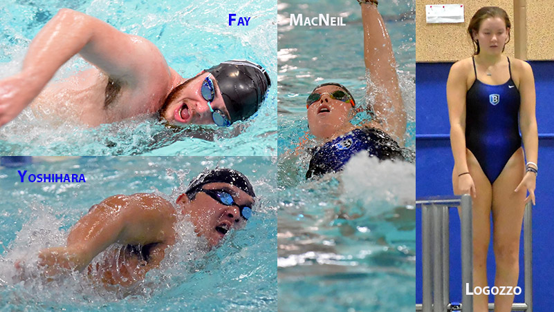 Four Named Bentley Swimming and Diving Captains