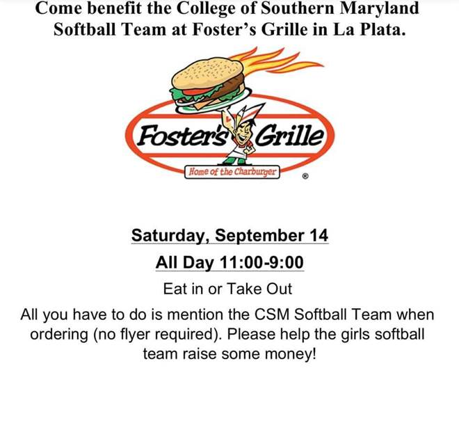 Softball Team to Host Fundraiser at Foster's Grille