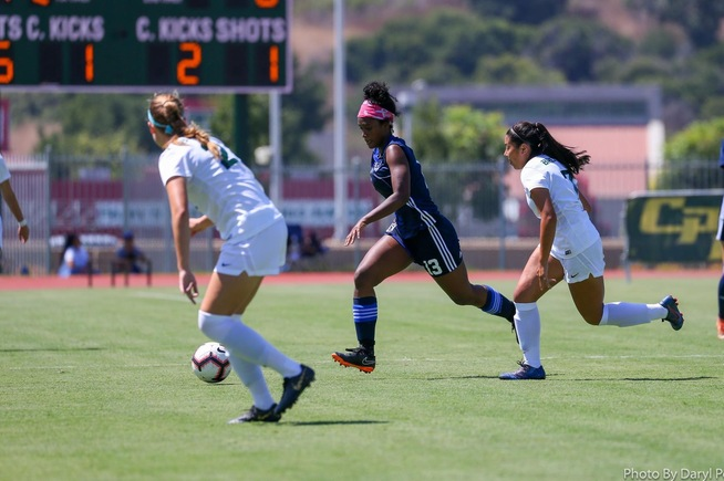 File Photo: Nia Thompson scored a pair of goals in the Falcons win