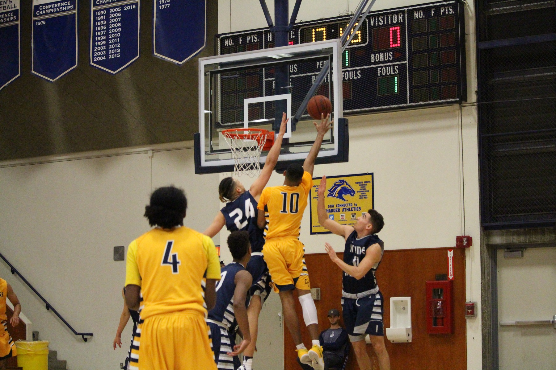 Chargers Lock Down Lasers In OEC Home Opener, 61-55
