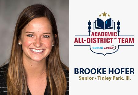 Brooke Hofer of Washington University Named to CoSIDA Academic All-District Team