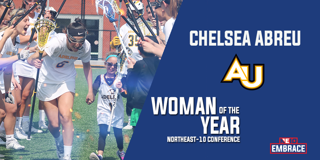 Embrace the Philosophy: Adelphi's Chelsea Abreu Named NE10 Woman of the Year