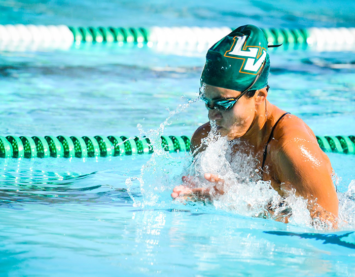 Swimming and Diving splits against Cal Lutheran