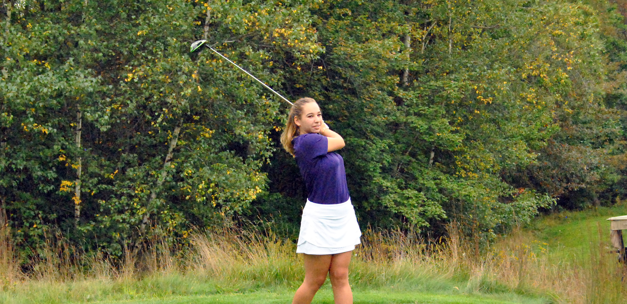 Junior Brianna Stein made a clutch par on the 18th hole to win her match against Marywood on Sunday.