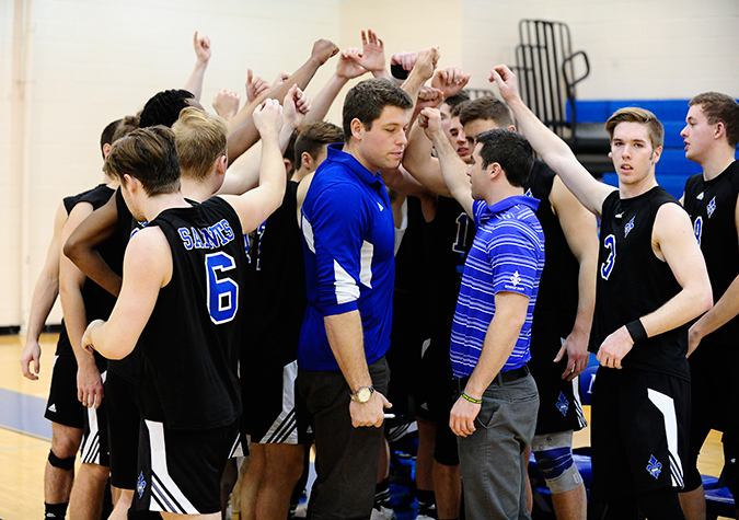 Men's volleyball falls in CVC semifinals to fourth-seeded Royals