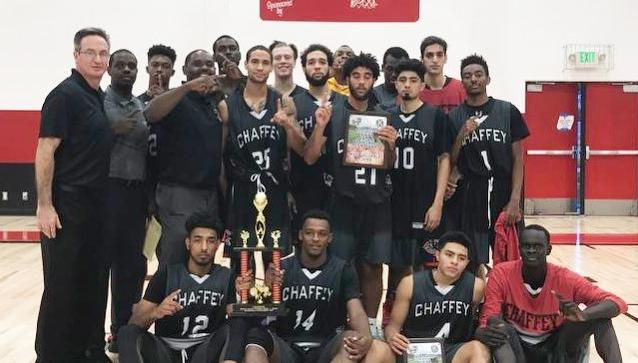Chaffey men capture the tournament championship at Mt San Jacinto Hoops and Crops Tournament.