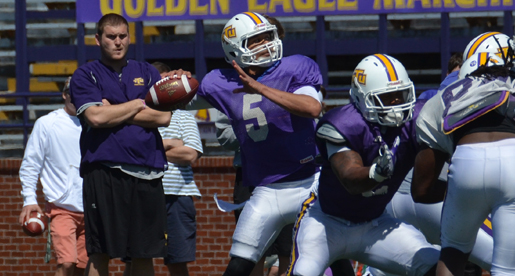 Quarterbacks shine at first scrimmage of the spring