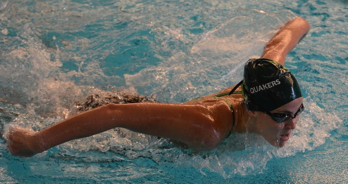 Leon, Glish Lead Women's Swimming to Victory Over Manchester