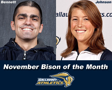 Johnson selected Bison of the Month for a second time this year, Bennett honored for month of November