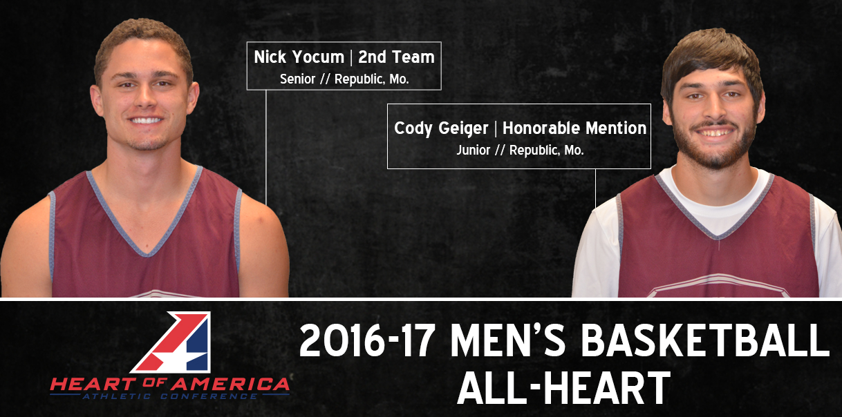 Yocum and Geiger Named to All-Heart Team