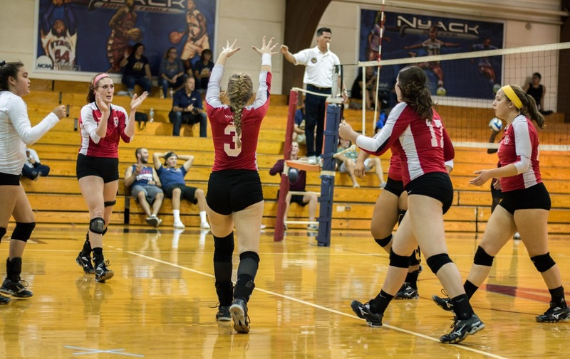 Women's Volleyball With Sweep In Home Tri-Match