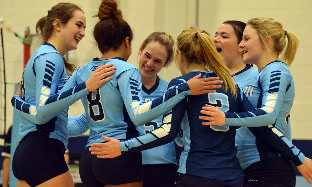 Women's volleyball cap season with sweep of Conestoga
