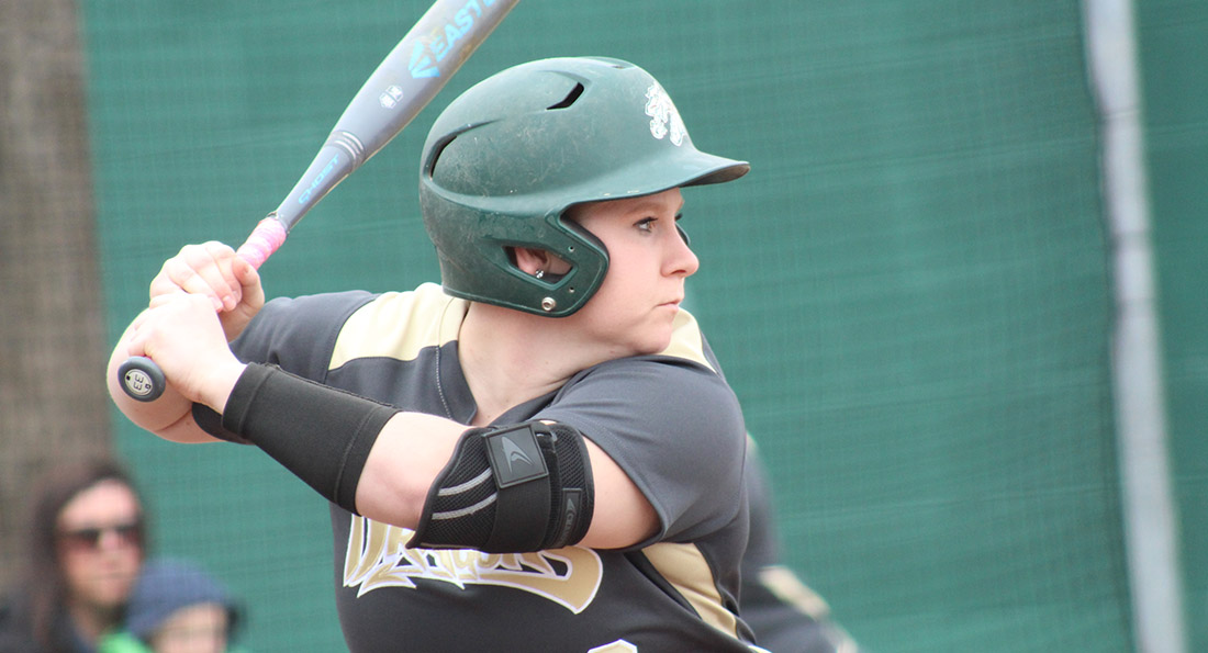 Hayley Kobie had 6 hits over two games as the Dragons split with Kentucky Wesleyan.