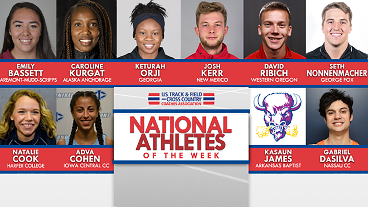 NCAA & NJCAA OTF National Athletes of the Week (April 24)