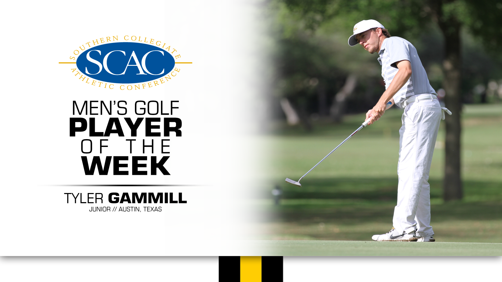 Gammill named SCAC Men's Golfer of the Week