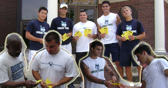 #6 Bobcat Tennis Helps Raise Awareness for Habitat ReStore