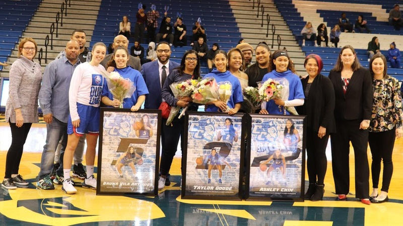 Central Honors Seniors Prior to 75-54 Win Over Terriers in Season Finale