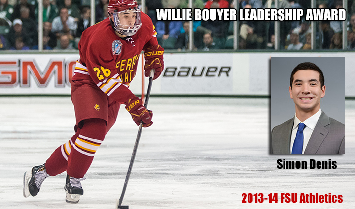 Ferris State Hockey's Simon Denis Claims 2013-14 Willie Bouyer Leadership Award